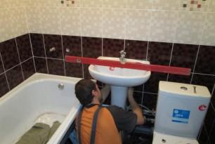 Ремонт ванной комнаты, ул. Крупской